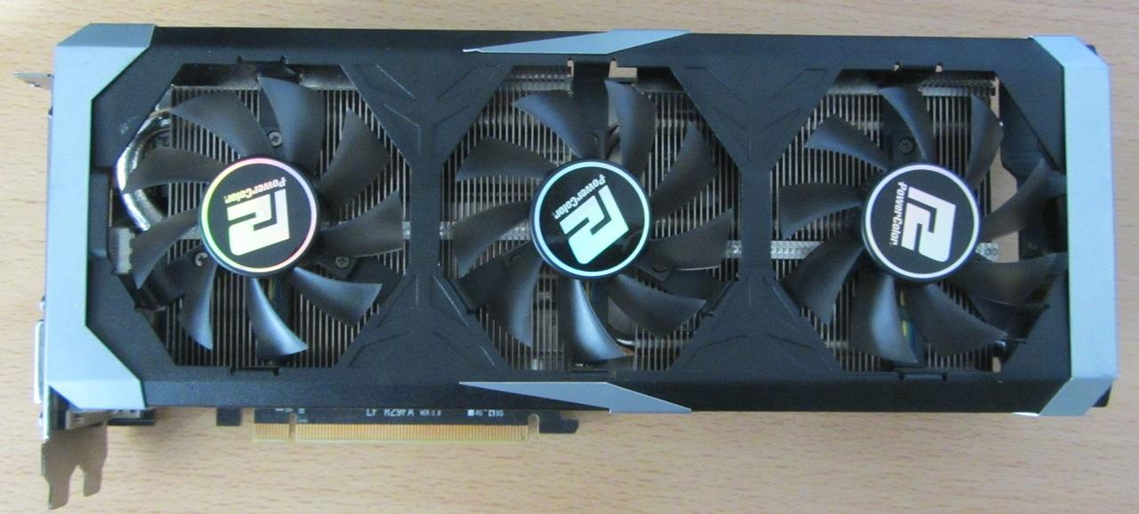 PowerColor R9 390x PCS+ Frontansicht