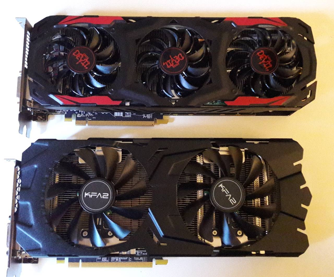 KFA2 GTX1070 / PowerColor Radeon RX570 Red Devil Vergleich