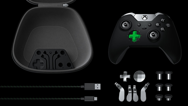Xbox One Elite Controller Lieferumfang