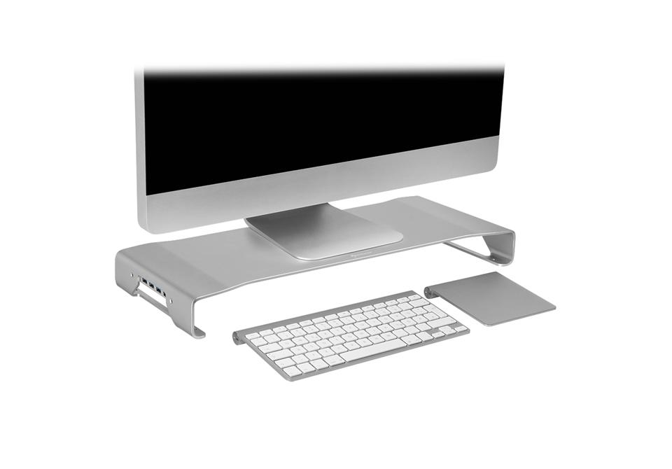 Sharkoon Aluminum Monitor Stand PRO silver