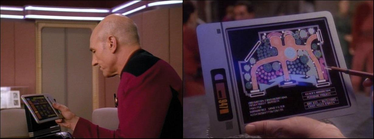 Padds in Star Trek