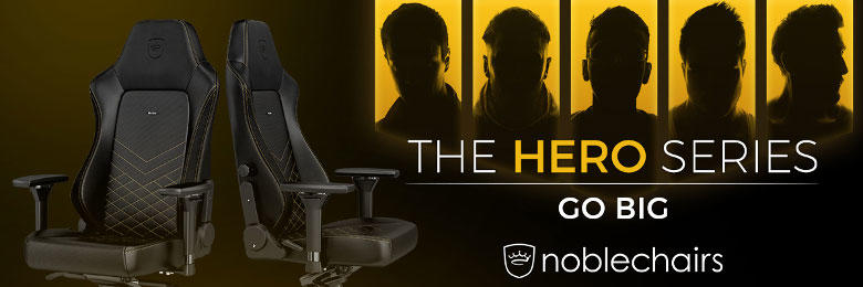 Noblechairs Hero Gaming-Stühle Echtleder