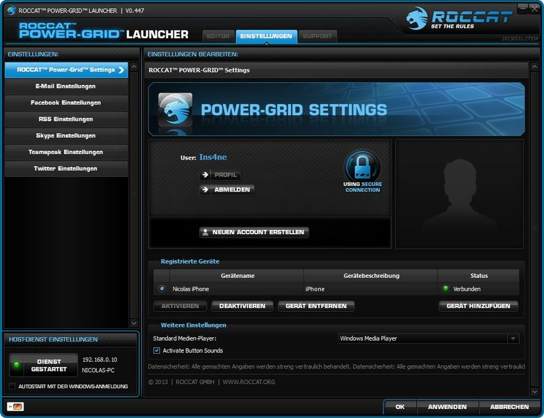 Power Grid Launcher Settings