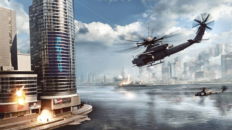 "Battlefield 4 Helikopter vs. Gebäude ""Levolution"""
