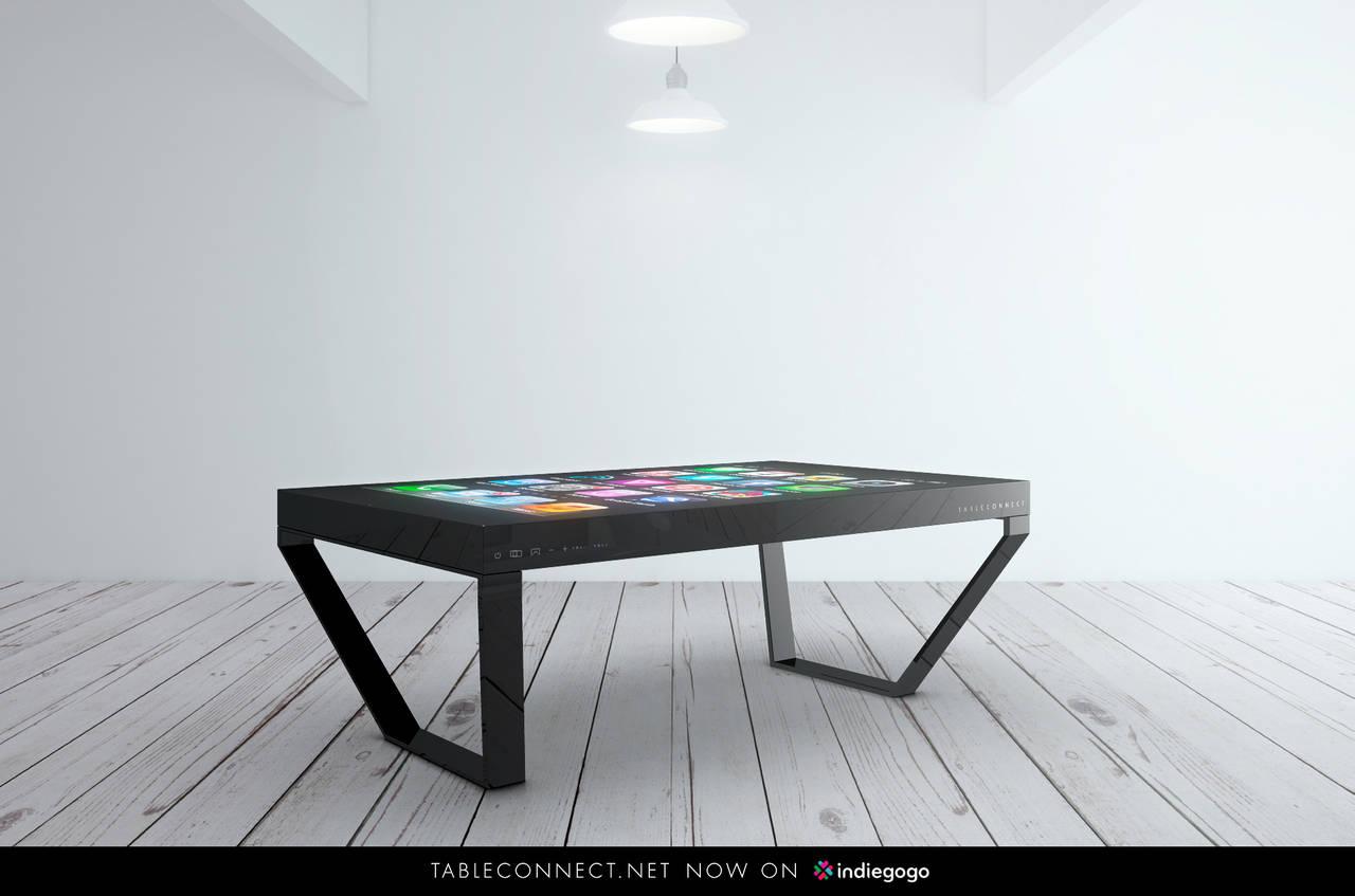 tableconnect iphone tisch mit 60 zoll bildschirm bei indiegogo pc masters. Black Bedroom Furniture Sets. Home Design Ideas