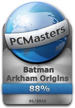 Batman Arkham Origin Award 88%
