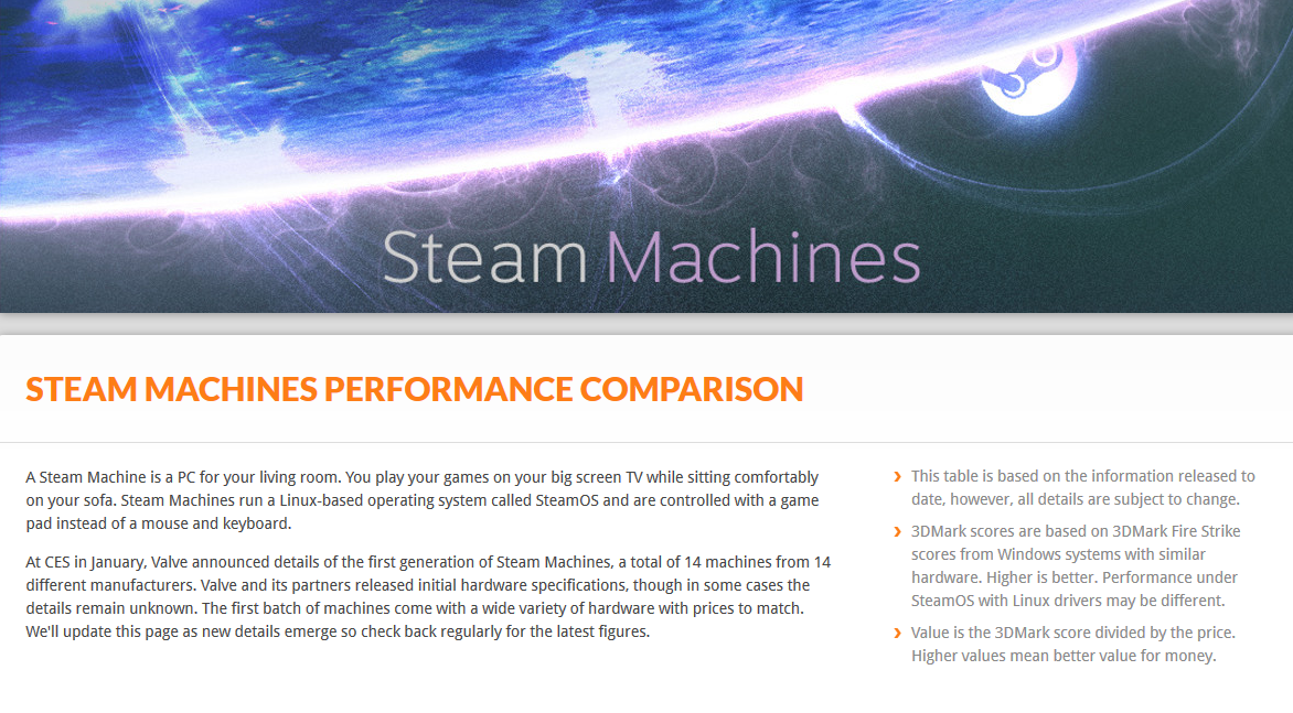 steam machine benchmark