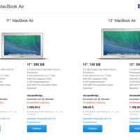 "Apple MacBook Air: Modelle erhalten ""Haswell Refresh""-Upgrade"